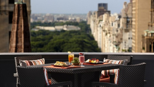 Central perks: The Peninsula New York's terrace overlooks Central Park.