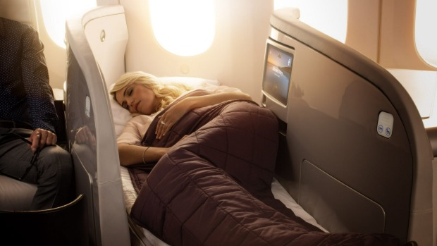 Air New Zealand Boeing 787 Dreamliner business class seats.