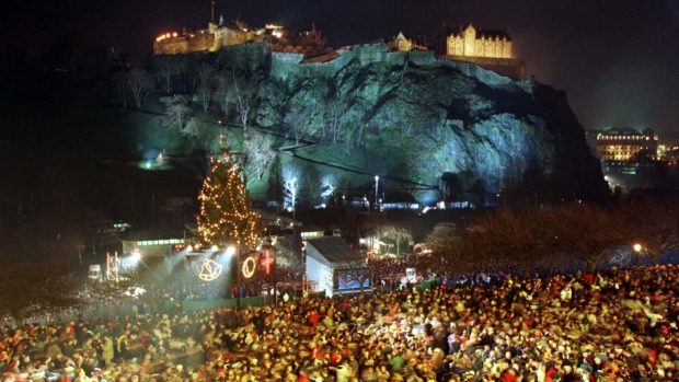 Hogmanay in Edinburgh, Scotland.