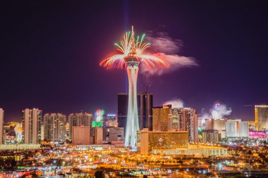 photo istock fireworks explode from casinos along the strip at midnight in las vegas