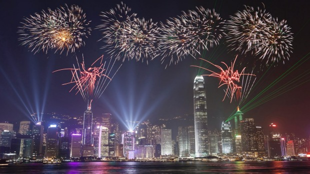 Hong Kong's celebration for the lunar New Year involves one of the world's best pyrotechnic displays.