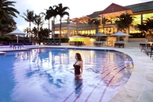 The Mecure Gold Coast Resort pools give it a coastal vibe, despite it not being on the beach.