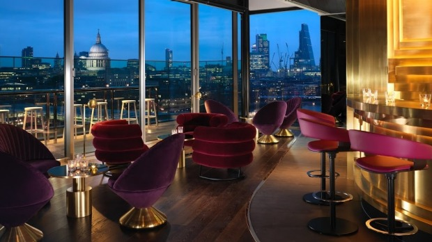 In-your-face view: The Mondrian London's rooftop bar Rumpus Room.