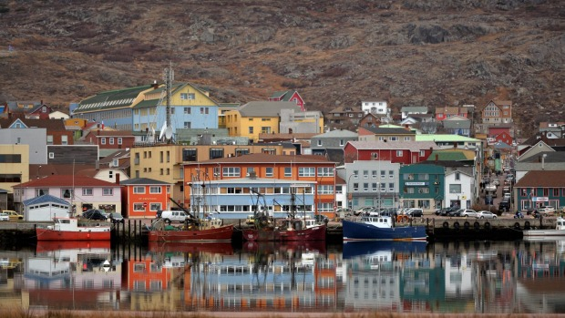 A view of Saint-Pierre on the French northern Atlantic island of Saint Pierre and Miquelon.