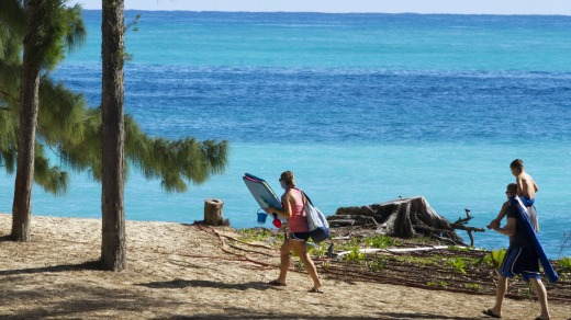 The beach near where President Barack Obama and the first family are spending time at Bellows Air Force Station, Hawaii, ...