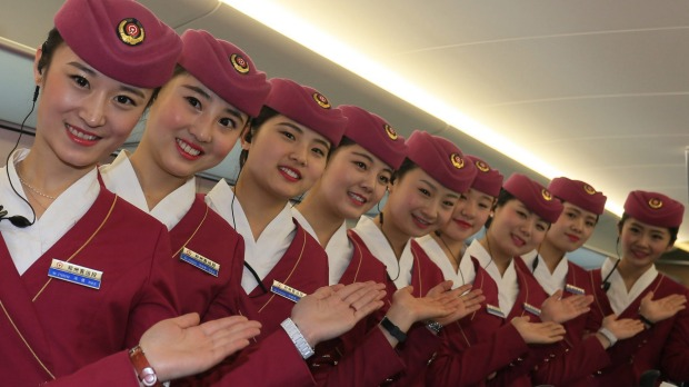 Service supreme: Complimentary meals and drinks are provided in first and business class on China's high-speed Electric ...