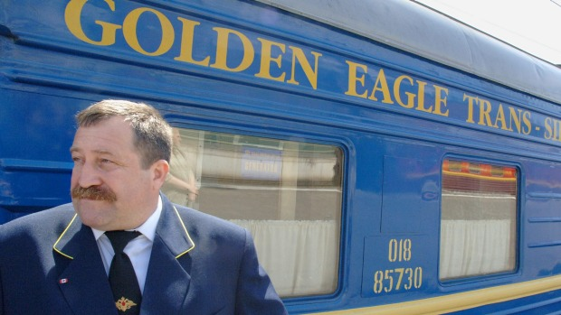 The Golden Eagle Express in Moscow, Russia.