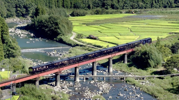 Cultural gem: Seven Stars, operated by JR Kyushu Railway Company, journeys around Japan's lush, volcano-studded ...