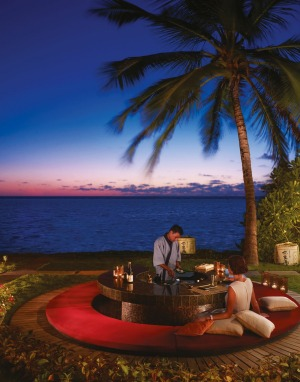 Japanese teppanyaki under the stars at the One & Only Reethi Rah.