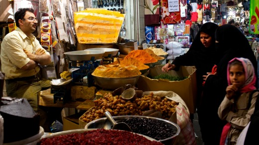 Spice of life: Inside the galleries of the Great Bazaar of Isfahan, Iran.