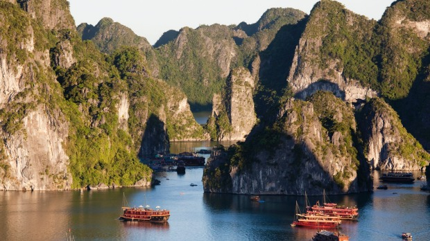 Vietnam's most popular attraction: Ha Long Bay.