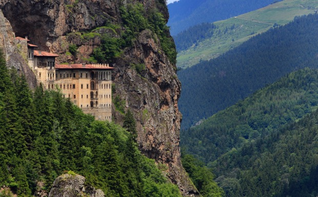 SUMELA MONASTERY, TURKEY: Just getting there is one photo op after another - the one hour drive from the port of Trabzon ...