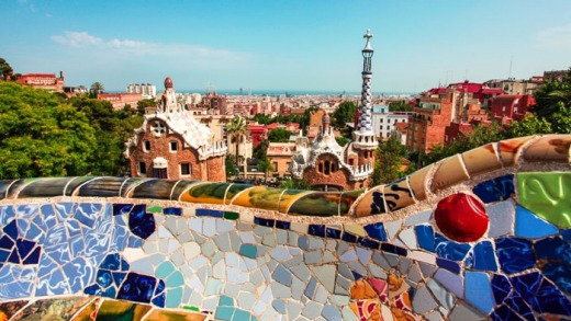 Beautiful: Barcelona is a favourite destination among tourists.