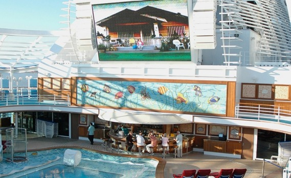 Movies Under the Stars on board Emerald Princess.