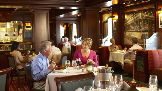 The Crown Grill on board the Emerald Princess.