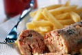 A truly regional food: Andouillette.