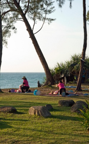 """Me"" time: Late afternoon Thai massages on Mai Khao Beach, Phuket."