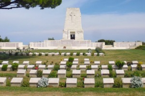 The war cemetery at Gallipoli.