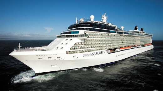 The 319-metre-long Celebrity Silhouette holds almost 3000 passengers over 13 decks.