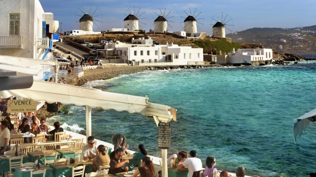 Soak in pretty Greek cliches on Mykonos.
