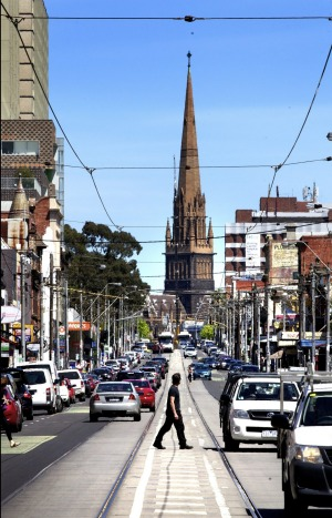 Hipster central: Brunswick Street is perfect for the painfully trendy.