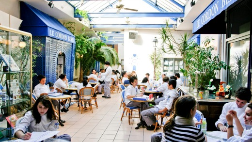 The winter garden at Le Cordon Bleu International in Paris