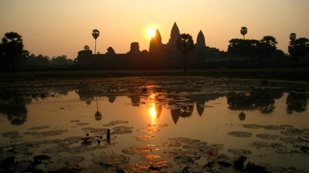 Angkor Wat, Cambodia: Seeing the sun rise behind this ancient ruin is one of the highlights of world travel.