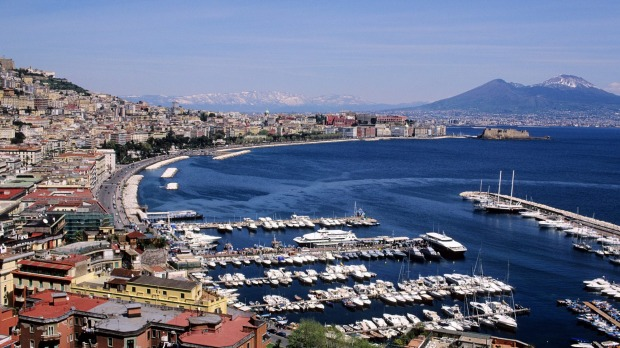 Naples, Italy: This Italian city, situation on the  Mediterranean Sea, is the home of pizza.