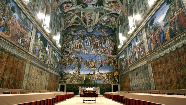 Sistine Chapel, Vatican City: Michelangelo's crowning glory, the ceiling of the Sistine Chapel, can't fail to amaze.