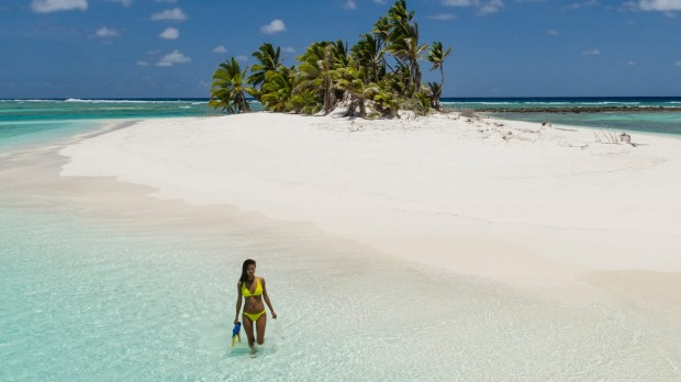 The Cocos (Keeling) Islands are a collection of tiny islands on two atolls.