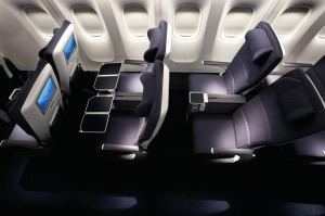 Roomy ride: British Airways' Premium Economy seats.