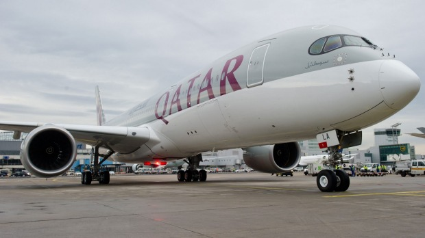 Airbus A350 ahead of its first flight with Qatar Airways.