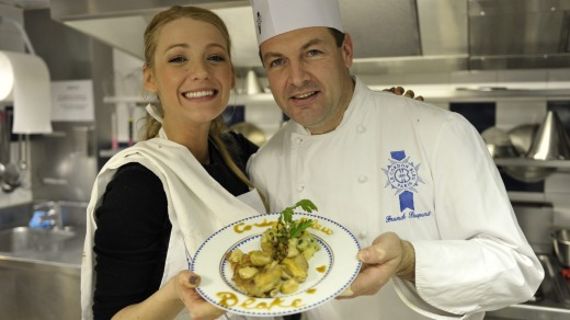 Hollywood's Blake Lively with chef Franck Poupard.