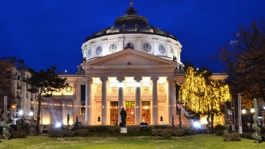 Grand: The Romanian Athaneum in Bucharest.