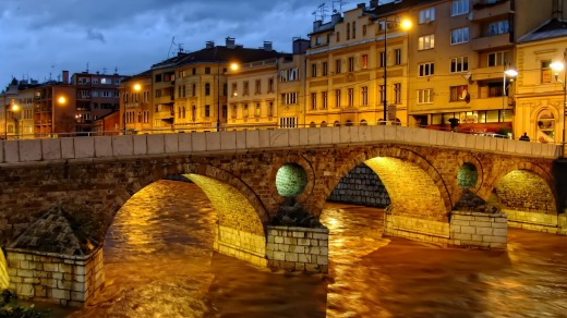 Beauty: The Latin Bridge in Sarajevo managed to survive the Balkans War.