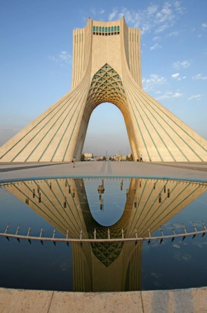 Stunning: The Azadi Tower, or King Memorial Tower, in Tehran, Iran.