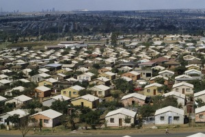 Houses in Soweto, Johannesburg, South Africa.