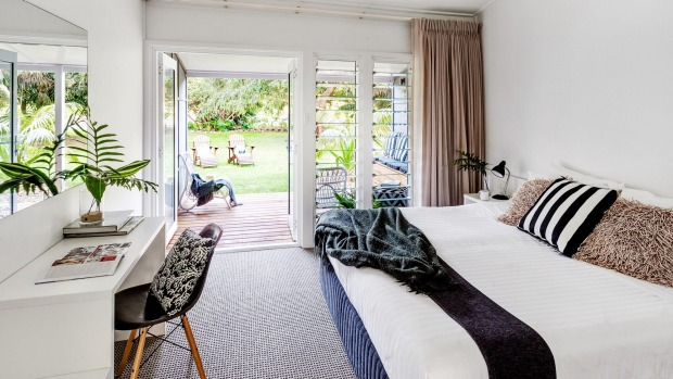 One of the refurbished rooms at Pinetrees Lodge, Lord Howe Island.
