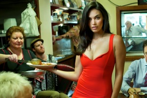Pellegrini's is just like Nonna's kitchen. Model: Monika Clarke from Chadwicks.