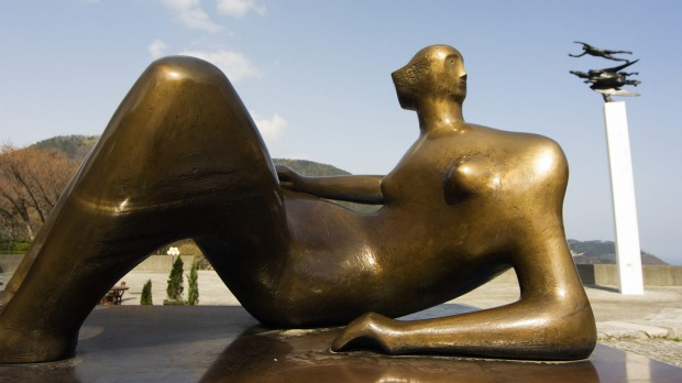 One of Henry Moore's reclining figures. The museum has 26 Moores on rotating display.