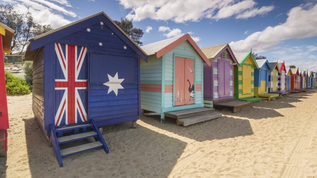 Beach huts come in all manner of styles.