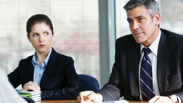 Anna Kendrick and George Clooney in <i>Up In the Air</i>.