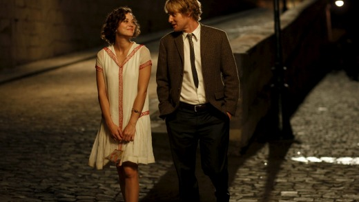 Marion Cotillard and Owen Wilson in <i>Midnight in Paris</i>.