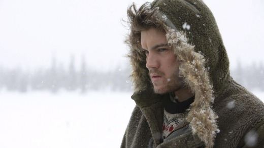 Emile Hirsch in the film <i>Into the Wild</i>.