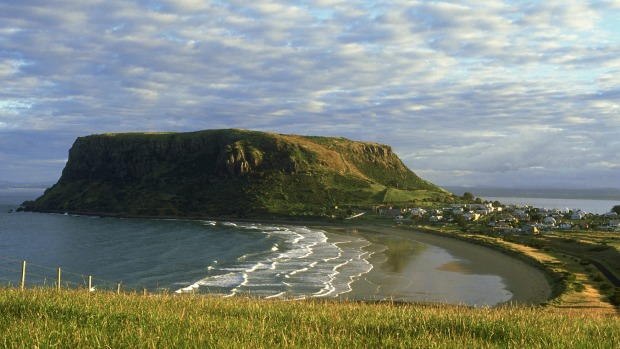 Pretty as: The town of Stanley sits on the north-west tip of Tasmania.