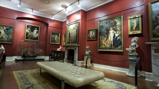 Norman Lyndsay's prolific collection is on display again in the gallery of the same name.