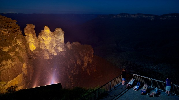 The Three Sisters at Katoomba are the Blue Mountains' most spectacular landmark.