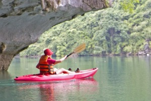 Wonder of the world: Kayaking through a cave.