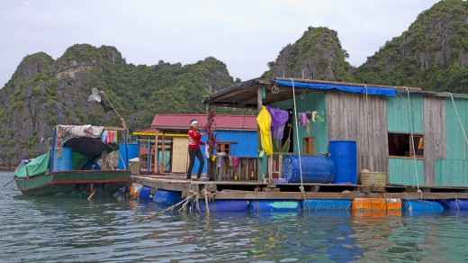 The floating village of Vung Vieng.