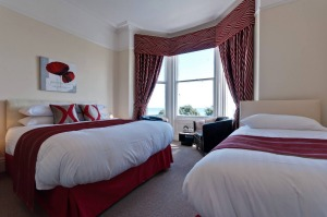 A bedroom at Lawton Court in Llandudno, Wales.